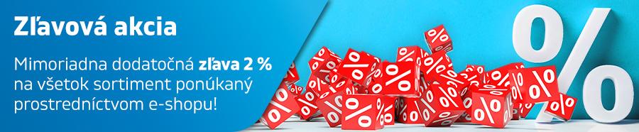 Zľavová akcia -2 %